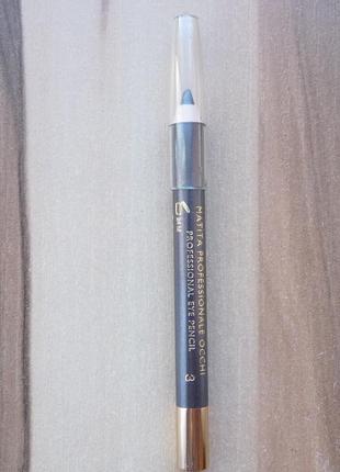Карандаш для глаз collistar professional eye pencil 3 acciaio серый графитовый тестер