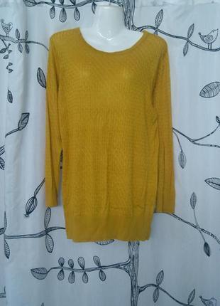 Горчичный свитерок светрик