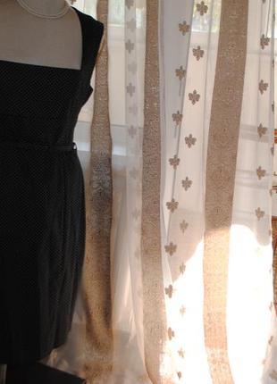 Скидка.красивейшее коттоновое платье в мелкий горошек