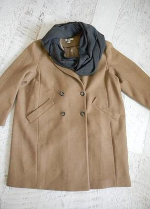 Шерстяное пальто премиум качества h&m wool blend италия 16р.