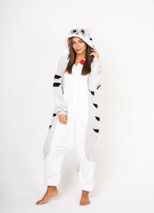 ❗есть наложенный❗оригинальные пижамы кигуруми кот для детей и взрослых