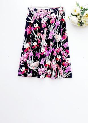 Очень красивая юбка миди цветочная юбка на резинке