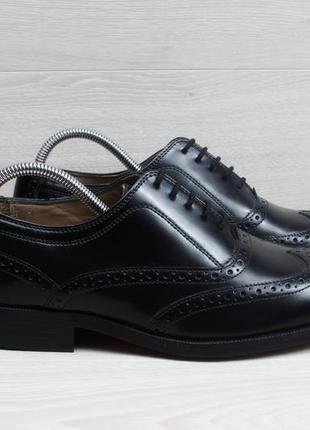 Кожаные мужские туфли броги clarks оригинал, размер 42 - 42.5