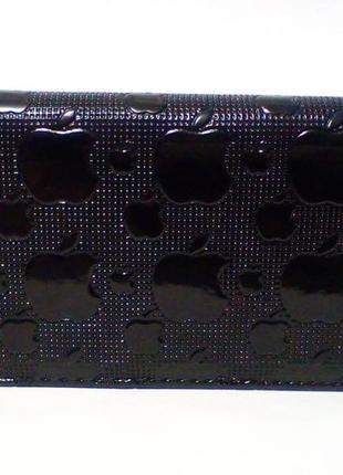 3-117 кошелек лакированный женский кошелек