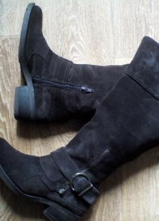 Ботинки сапоги деми натуральний замш