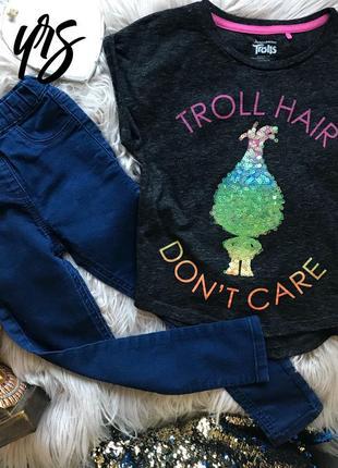 Набор джеггенсы лосины футболка 6 лет тролли trolls
