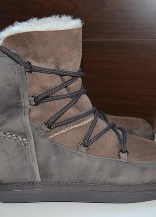 Ugg australia 38р уги оригинал. зимние сапоги ботинки на овчине
