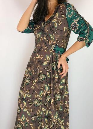 Платье макси на запах