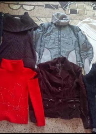 Пакет теплого жіночого одягу 42-44,8 одиниць(пакет теплой женской одежди,женских вещей)