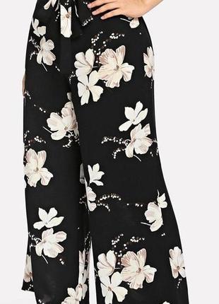 🔥🔥🔥легкие женские широкие брюки, штаны, кюлоты в цветочный принт 18 р. primark🔥🔥🔥