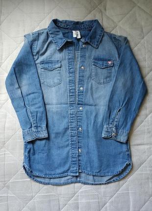 Платье-рубашка hm 5-6 лет
