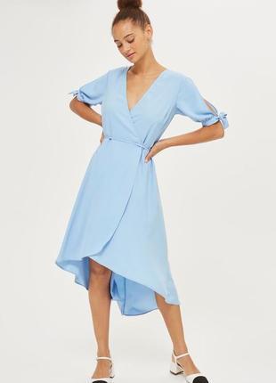Платье на запах  со шлейфом topshop