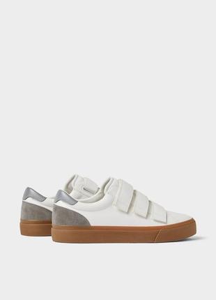 Кеды кроссовки 👟 мужские спортивные туфли zara man на липучках ремешках новые с биркой 42р