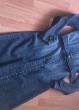 Стильный плащ джинсовый