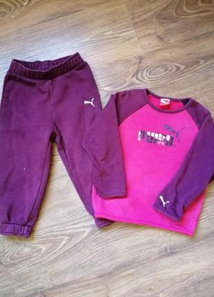 Спортивный костюм puma для девочки 98 см 3 года
