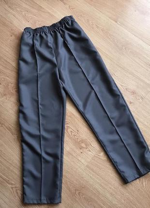 Женские повседневные брюки укорочённые/ серые штаны. damart