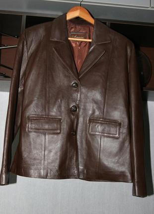 Пиджак из натуральной кожи  кожаный