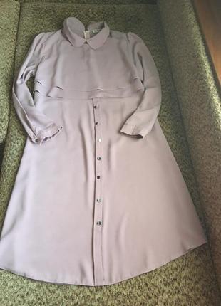 Пудровое платье рубашка