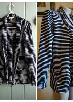 Стильный полосатый пиджак, блейзер