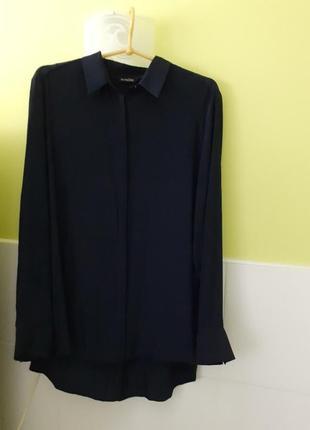Темно- синяя блуза от massimo dutti