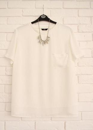 Легкая блуза из шифона на подкладке f&f uk22 новая без бирки