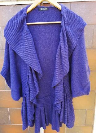 Накидка кадиган свитер