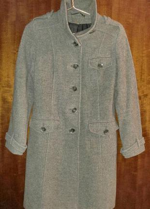 Пальто теплое шерстяное от next (м) р. 12 (40)