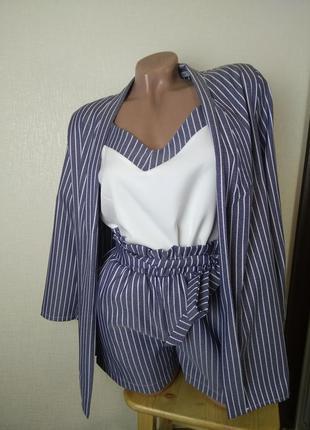Костюм костюмчик тройка комплект майка шорты и пиджак