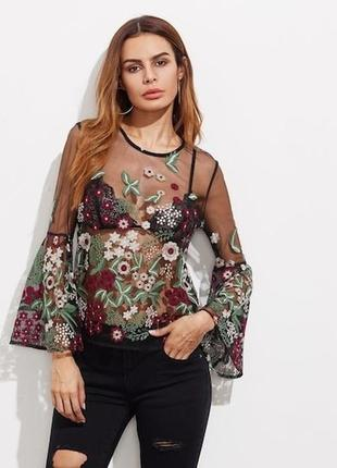Блуза вышивка
