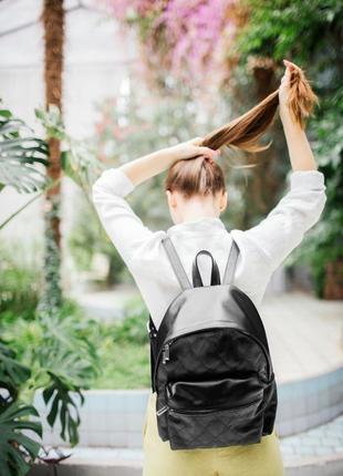 Стильный городской кожаный рюкзак (размер l), женский рюкзак из натуральной кожи