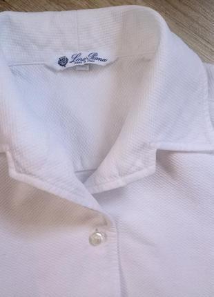 Рубашка люксового бренда loro piana италия
