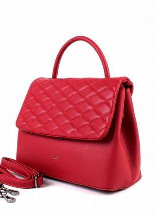 Женская сумка, клатч david jones 5427 тёмно-красная