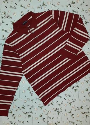 Фирменное поло свитер в полоску marks&spencer, размер 48 - 50