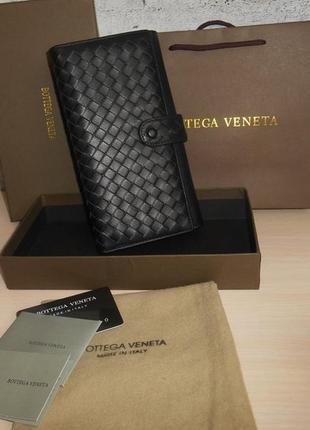 Клатч-сумка мужская, большой кошелек bottega veneta, кожа, италия 3013