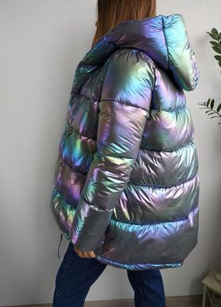 Зимняя куртка биопух дутая бензин зимняя пуховик пальто одеяло укороченое