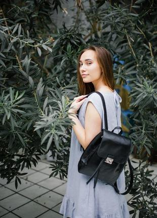 Стильный кожаный рюкзак, городской рюкзак из натуральной кожи