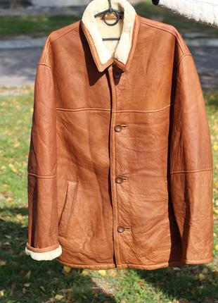 Роскошная мужская дубленка нат. овчина trapper original leatherwear 50-52