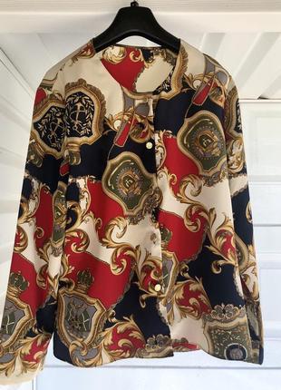 Мега крутая блуза в стиле hermès, оригинал, винтаж 😍