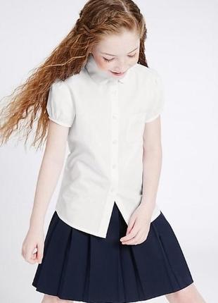 Школьная блузка (рубашка) marks & spencer, рост 128 см