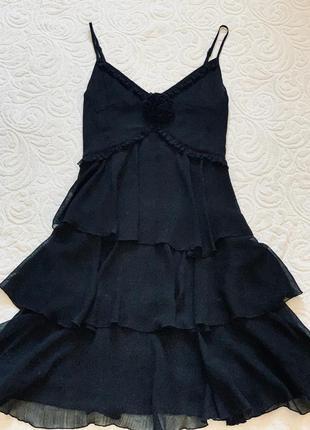 Вечернее чёрное платье vila оригинал