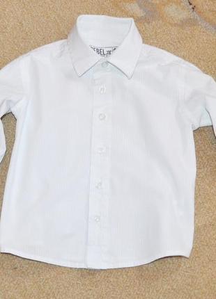 Рубашка белая rebel р.2-3 года 98 см