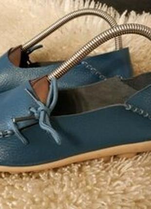 Fashion shoes кожа мокасіни