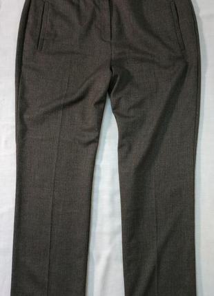 """Дизайнерские брюки в принт """"елочка"""" коричневые линейка ben de lisi бренд debenhams"""