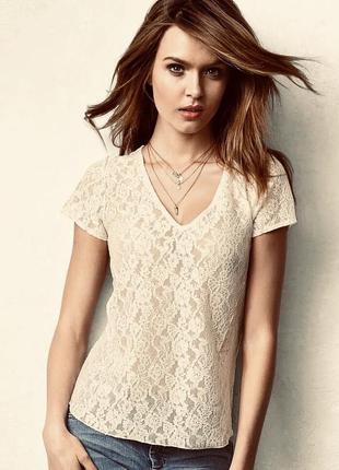 Victoria's secret lace t-shirt blouses оригинал майка блуза кружево