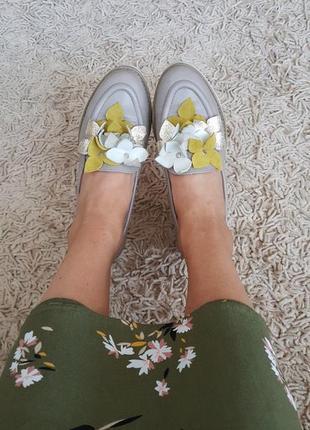 Кожаные лоферы, слипоны, туфли
