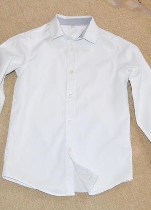 Рубашка белая marks&spencer р.8-9 лет 134 см