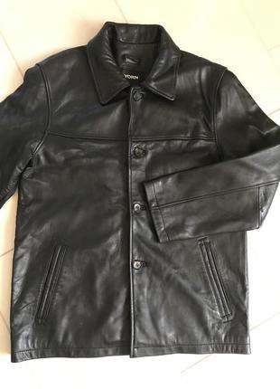 Тренч кожаный мужской куртка дорогой бренд германии yorn размер 48-50 или l