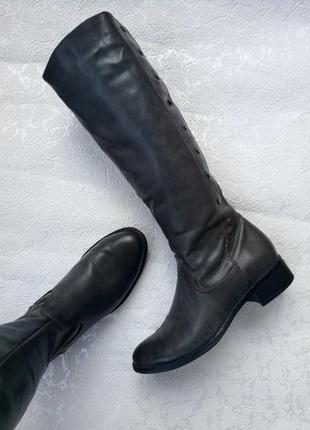 Серые сапоги 38/39 р. ботинки демисезонные