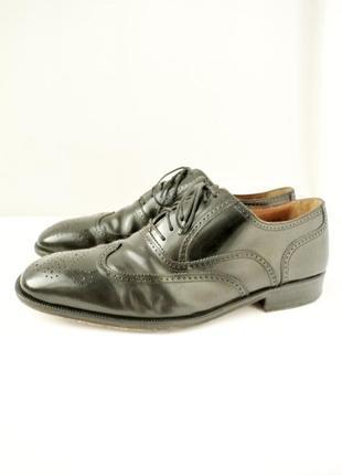 Стильные классические кожаные мужские туфли florsheim. размер 43,5-44.