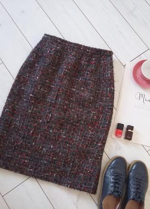 Изумительная теплая юбка миди в составе шерсь и мохер..# 52